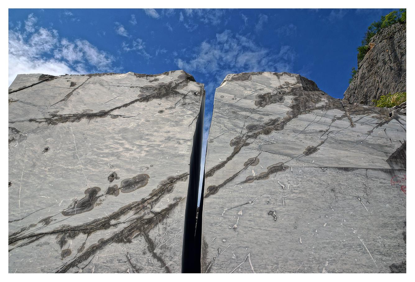 Marmor Durchblick
