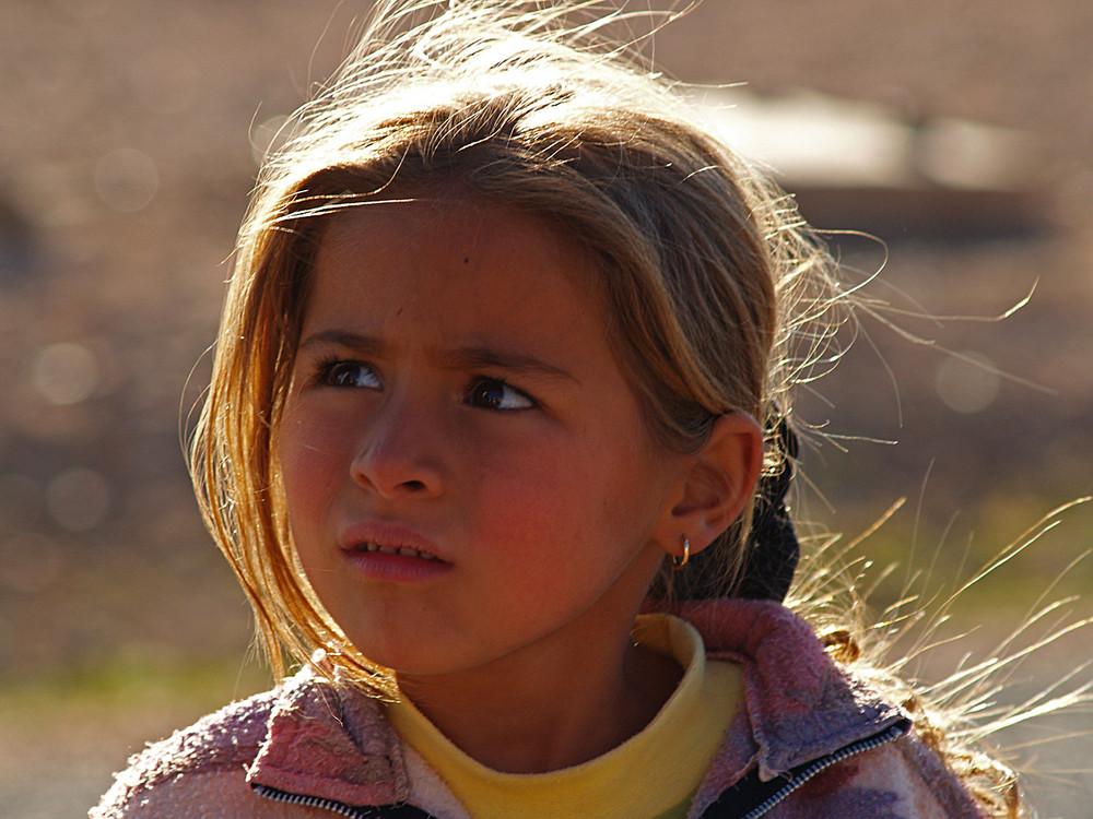Marocco : bambina bionda