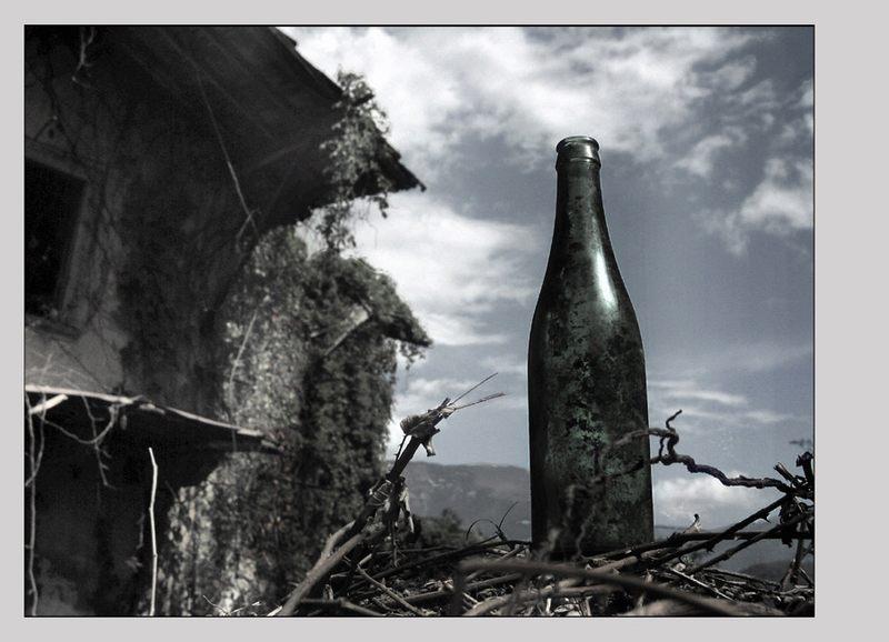 Marode mit Flasche