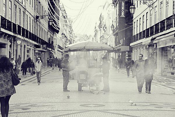 Maronenverkäufer Lissabon