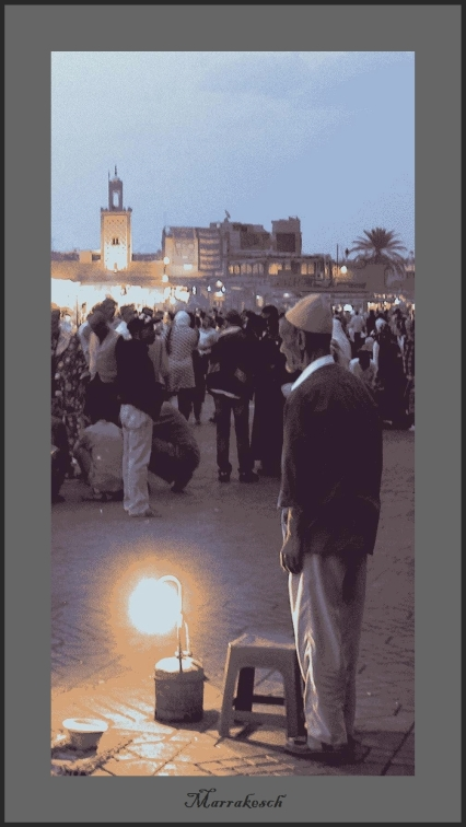 Marrakesch - der Schuhputzer Djamaa el fna