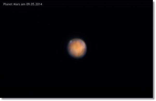 Mars am 09.05.2014 circa 22:30 MESZ