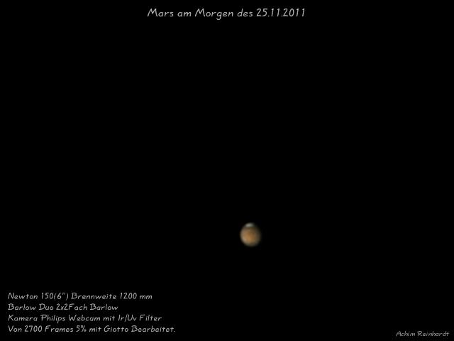 Mars am 25.11.2011