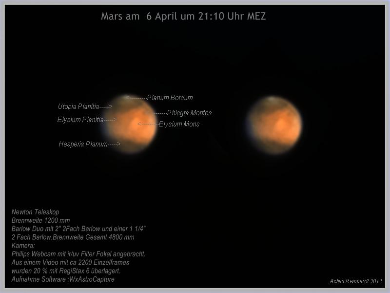 Mars am 6 April