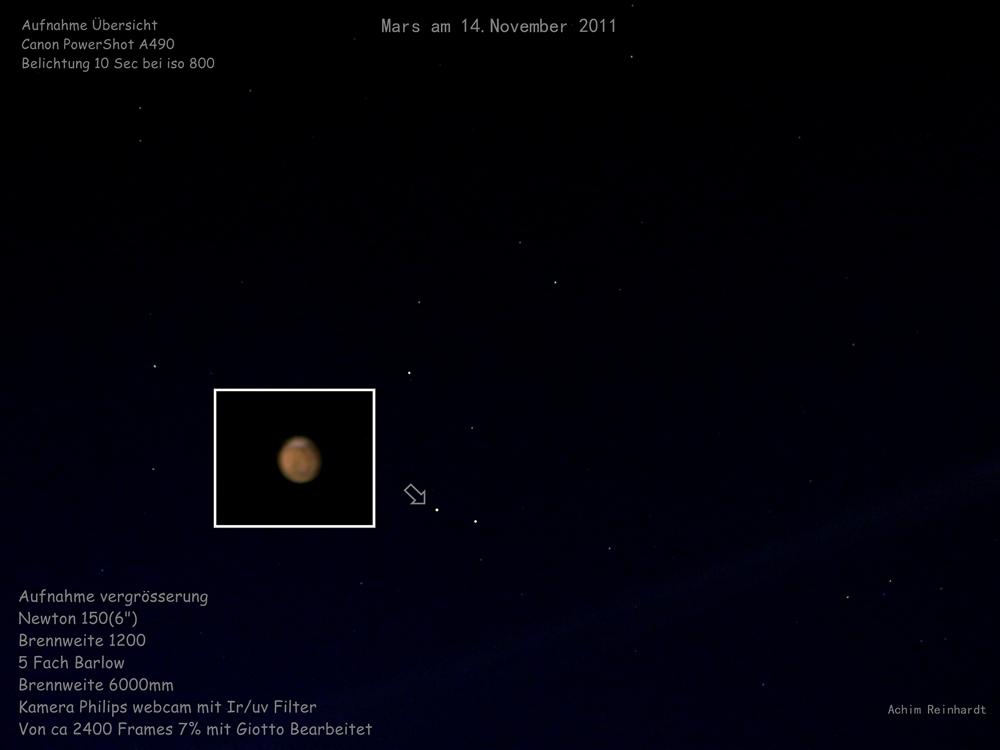Mars am Morgen des 14.11.2011