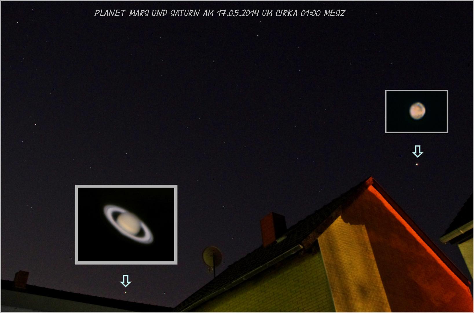Mars und Saturn am 17.05.2014
