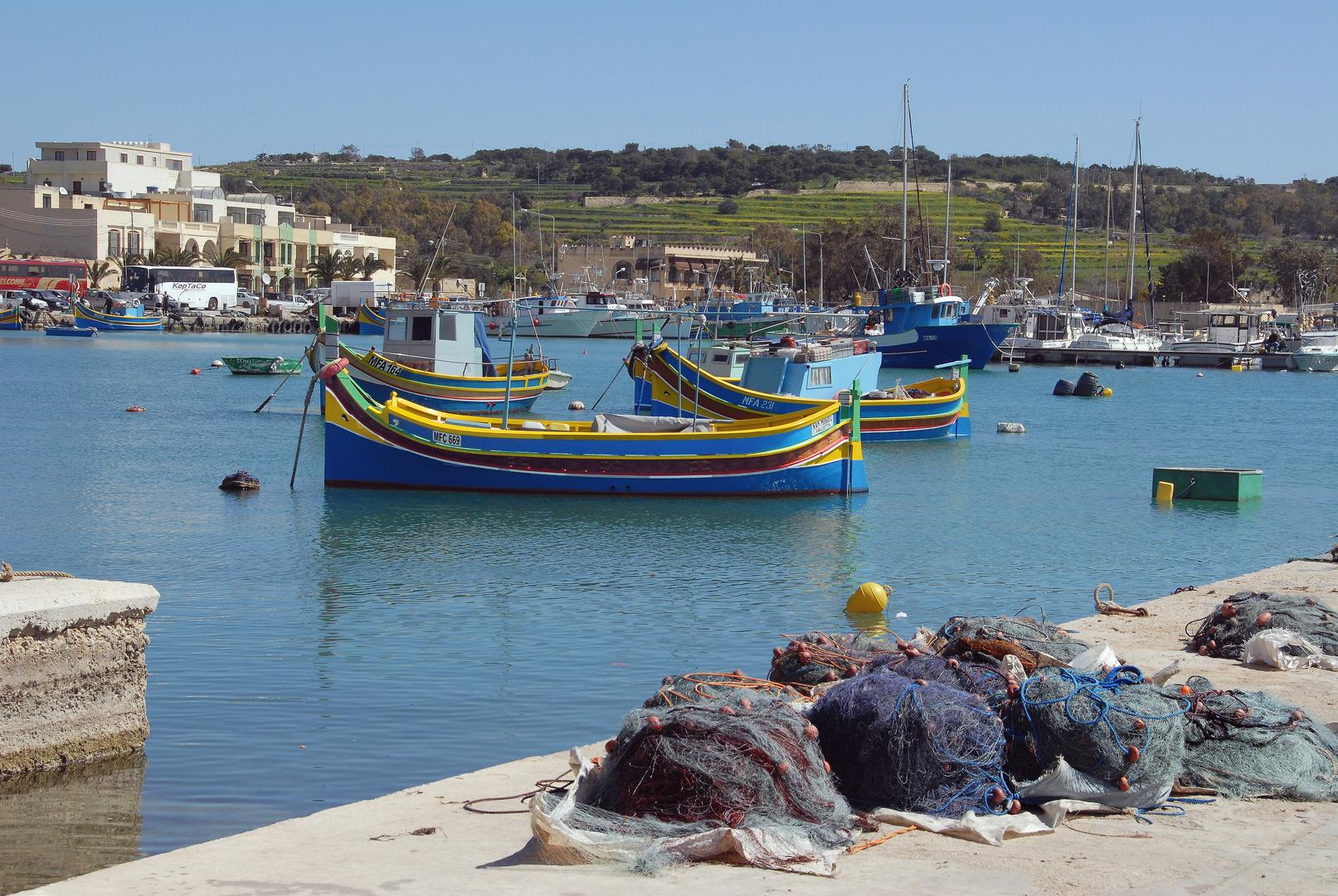 Marsaxlokk - Fischereihafen auf Malta