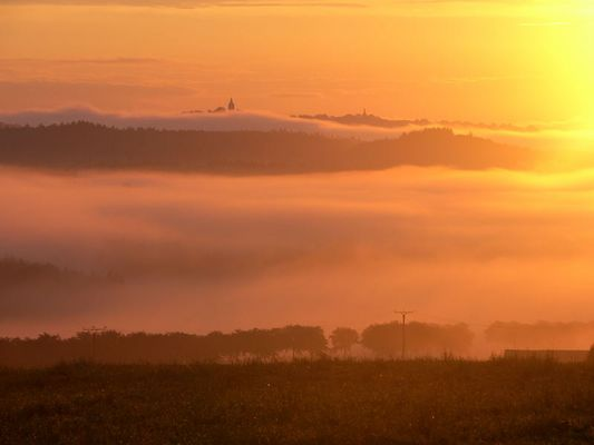 Marsberg im Nebel
