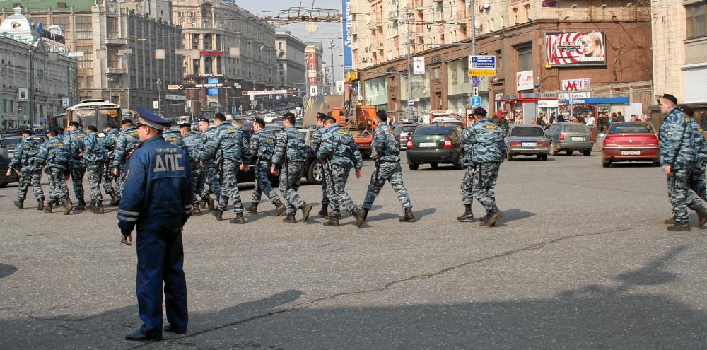 marschieren in Moskau