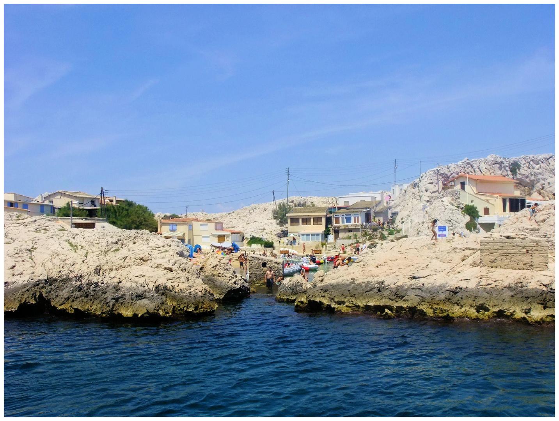 Marseille. Cabanons aux Goudes