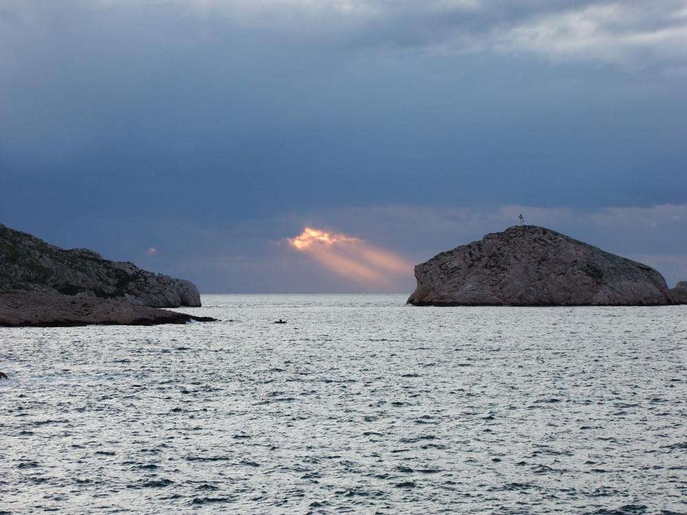 Marseille. Couchant aux Goudes