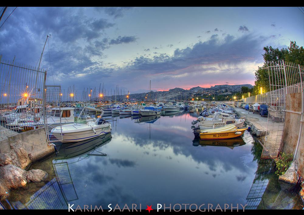 marseille coucher de soleil sur le port de l estaque