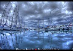Marseille, le port de l'Estaque en Automne