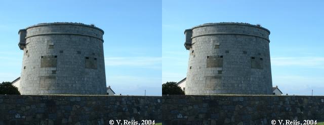 Martello tower at Red Island, Skerries, Ireland