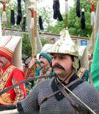 Martialischer Janitscharenkämpfer (mit Pappbart!!!)