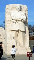 Martin Lutter King Memorial Washington DC. Tidal Basin.