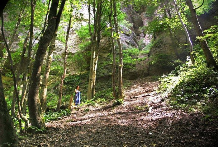 Martina am Ebentaler Wasserfall III