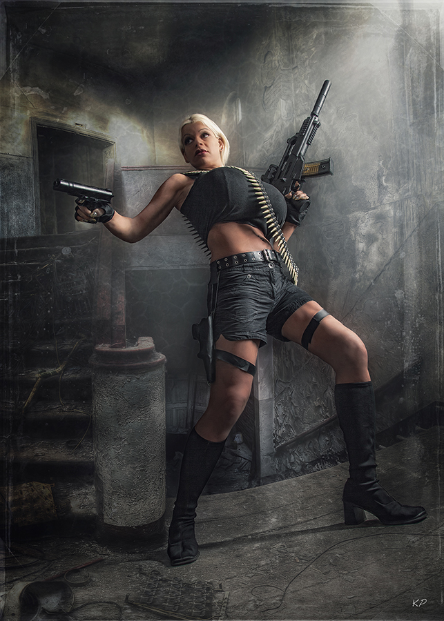 Martina Big as Lara Croft
