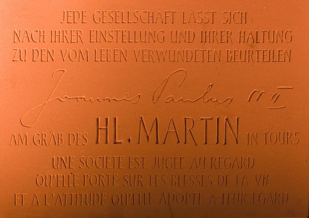 Martinsbrücke - Inschrift