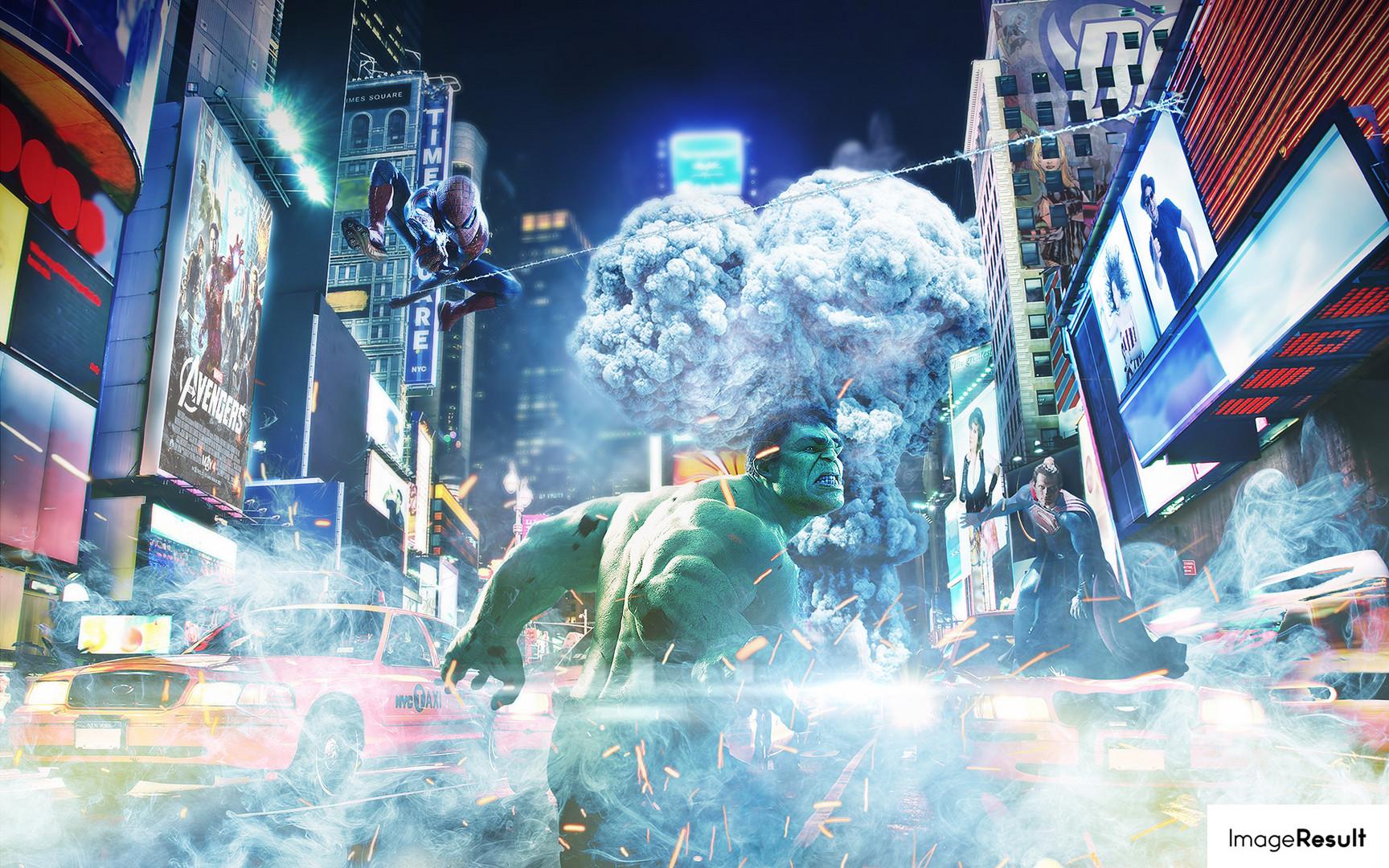 Marvel vs DC - Photoshop Speed Art