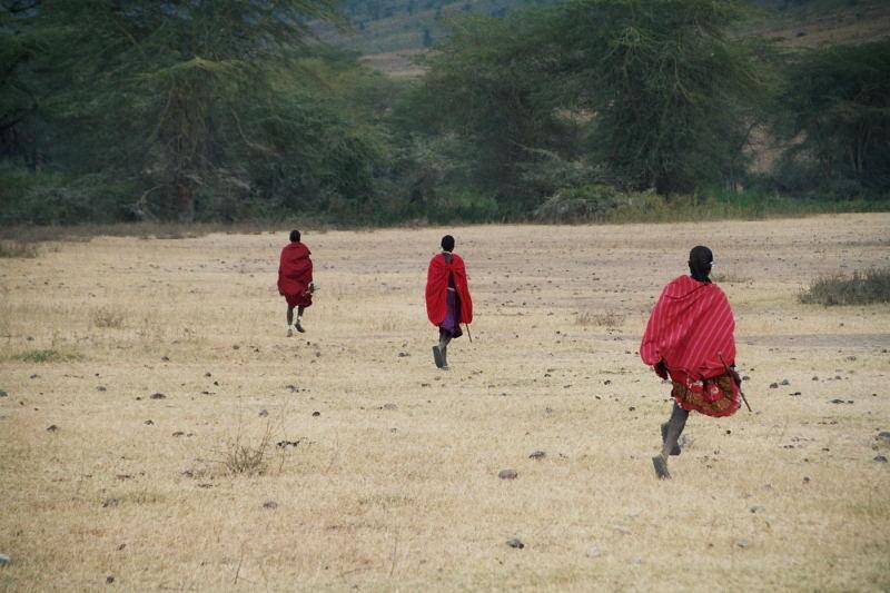 Masai im Ngorongoro Crater