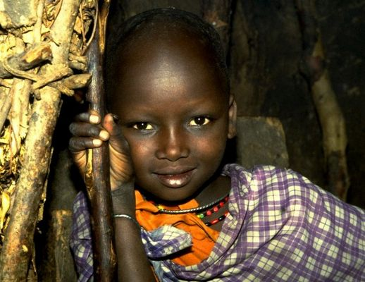 Masai-Mädchen in Kenia