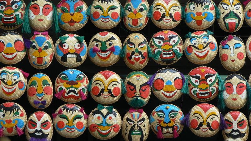 màscares a una botiga de hanoi