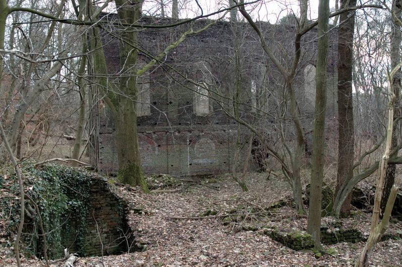 Maschinenhaus im Wald