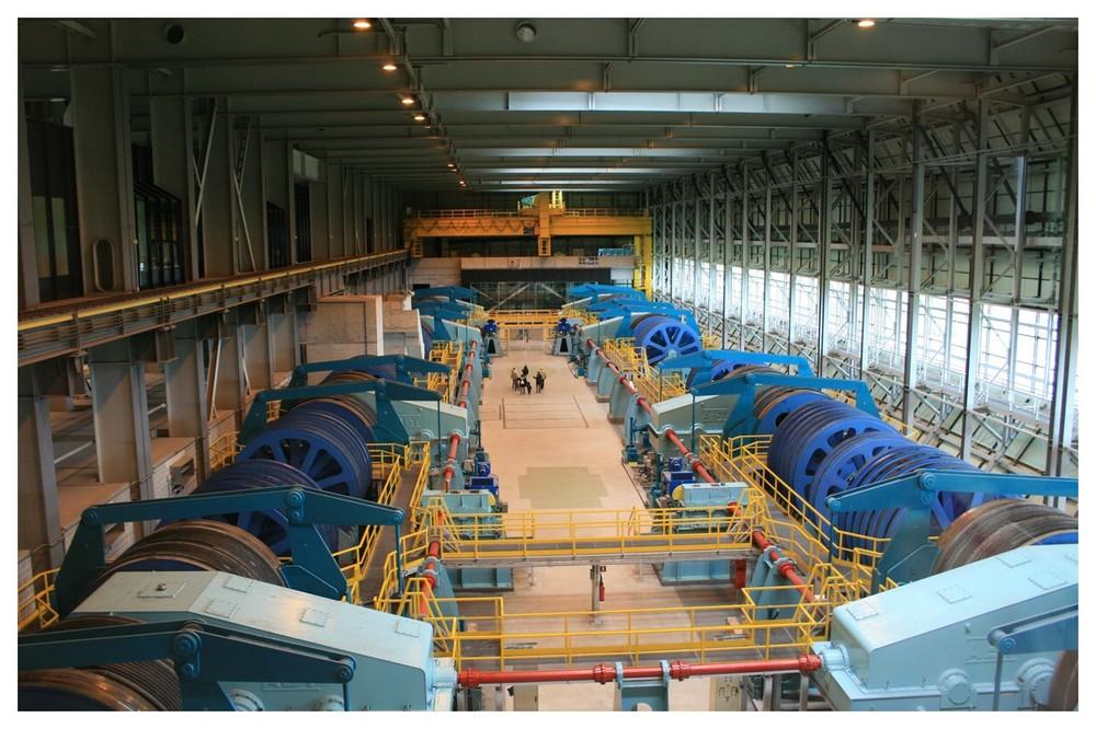 Maschinenraum des Schiffsheberwerkes Strepy Thieu