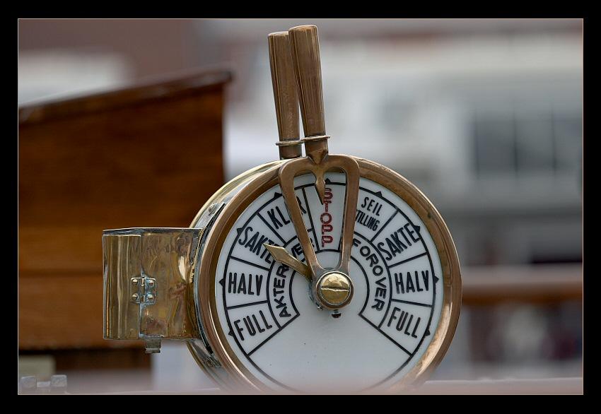 Maschinentelegraph der Statsraad Lehmkuhl