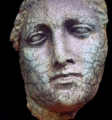 Masque néo-grec vu chez un antiquaire