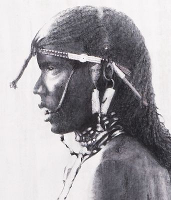 Massai warrior 2 (detail)