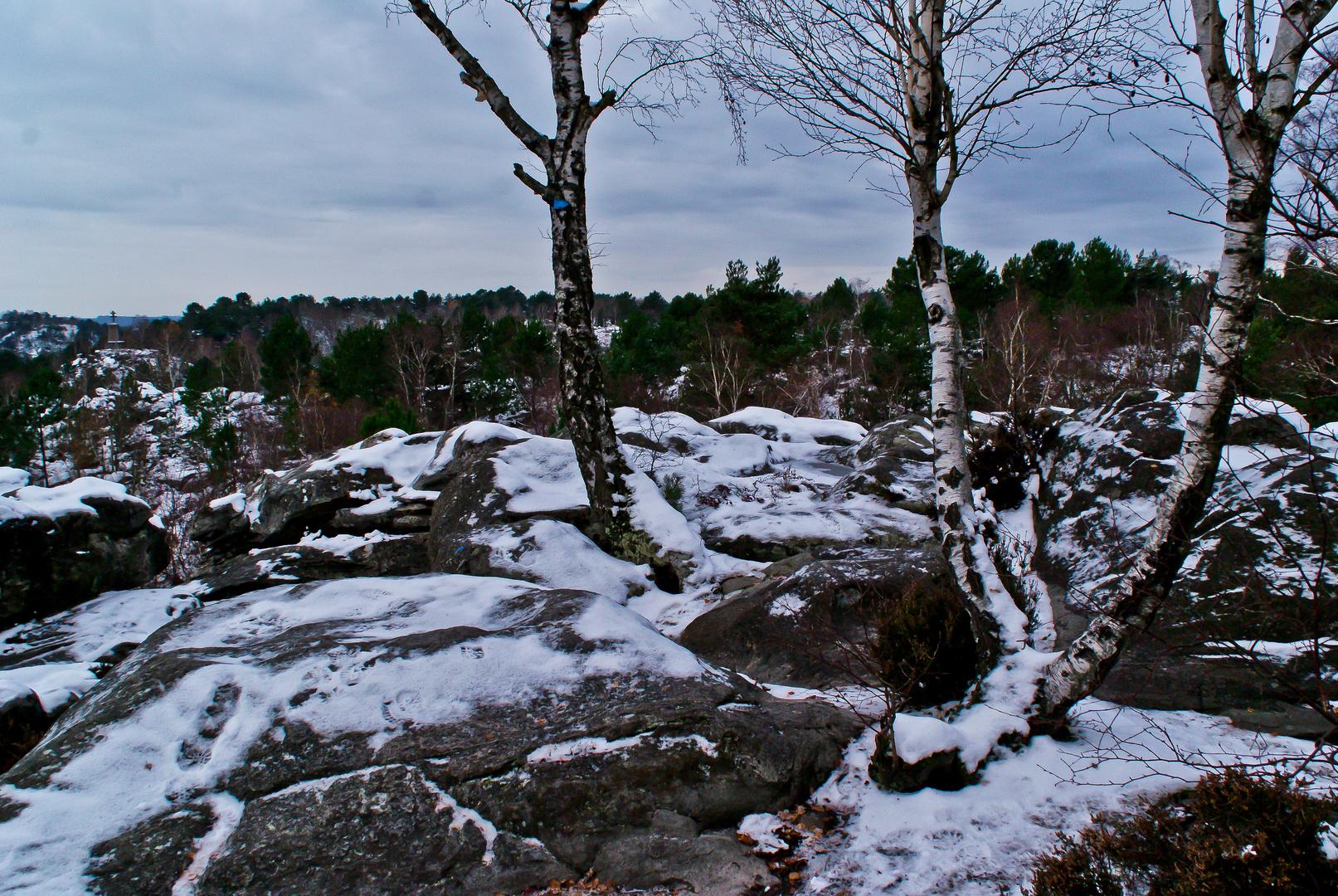 massif des Trois pignons sous la neige