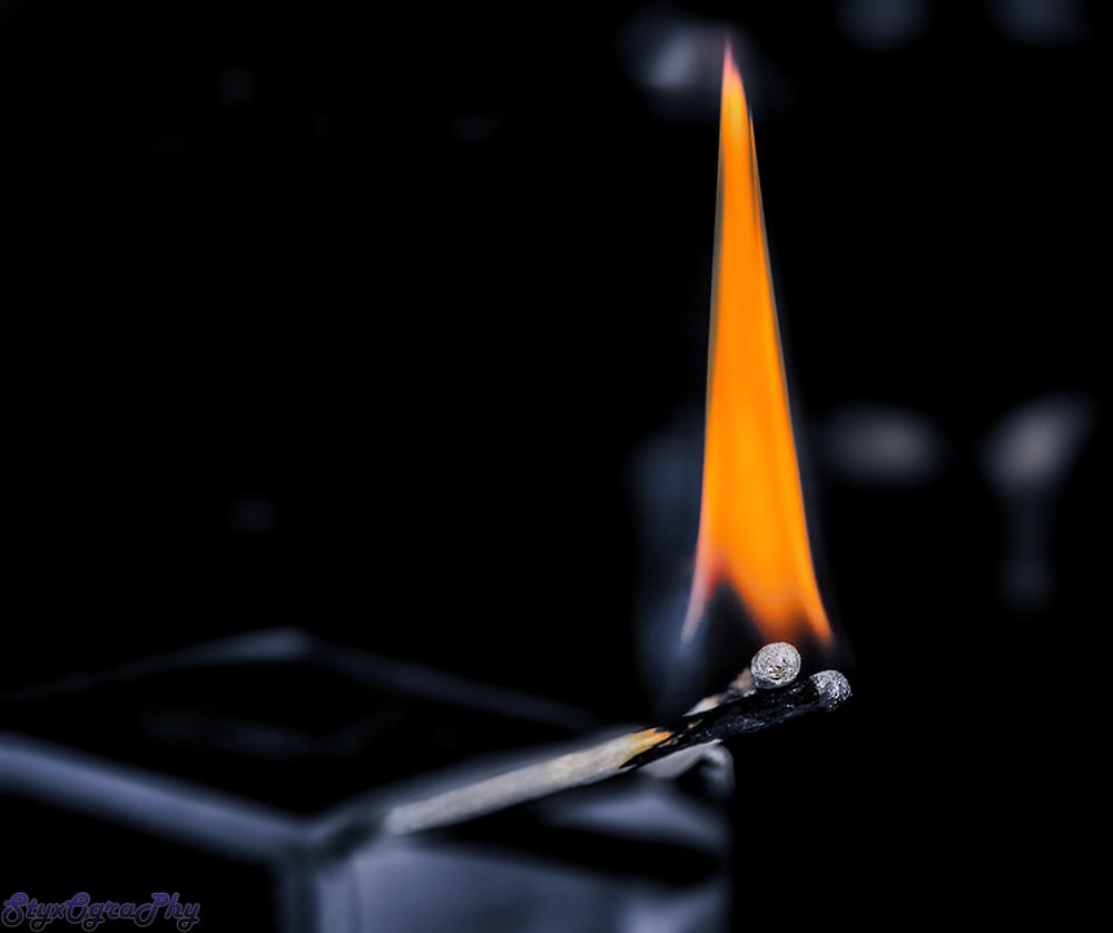 matchsticks on fire