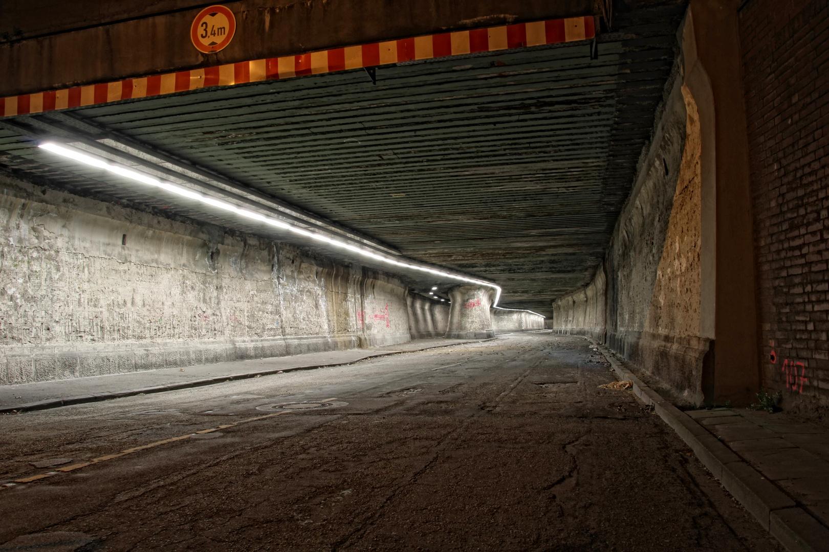Matena Tunnel gesperrt