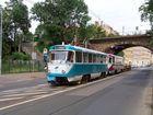 Materialpendel der Leipziger Verkehrsbetriebe am S-Bf Sellerhausen