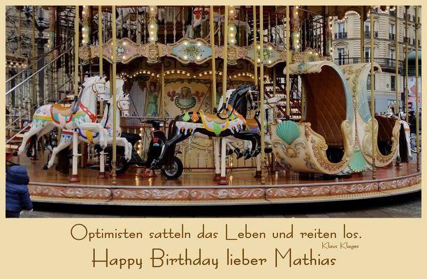 Mathias hat Geburtstag
