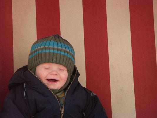 Mathis freut sich riesig über den ersten Urlaub