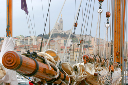 Matûres sur le port de Marseille
