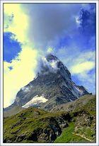 Matterhorn bewölkt