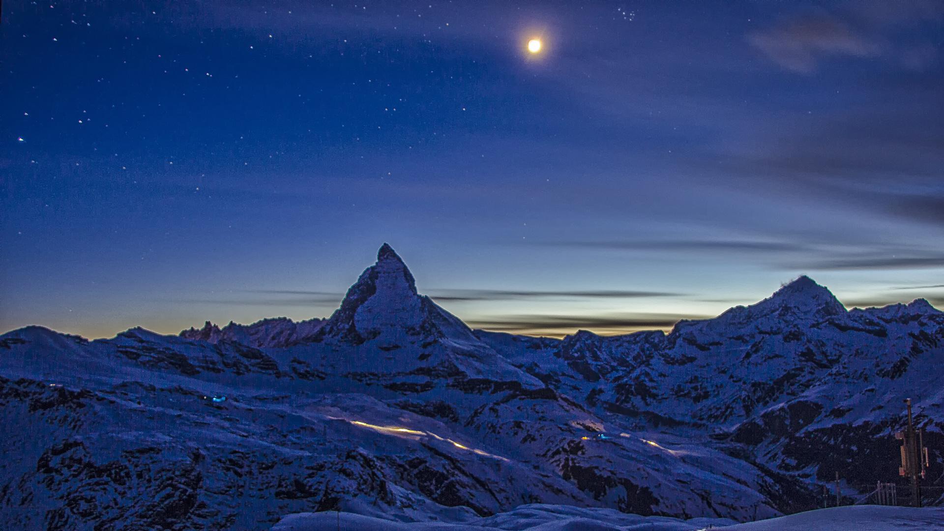 Matterhorn by night