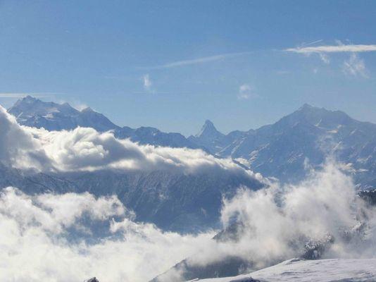 Matterhorn, gesehen vom Eggishorn (Aletschgletscher)