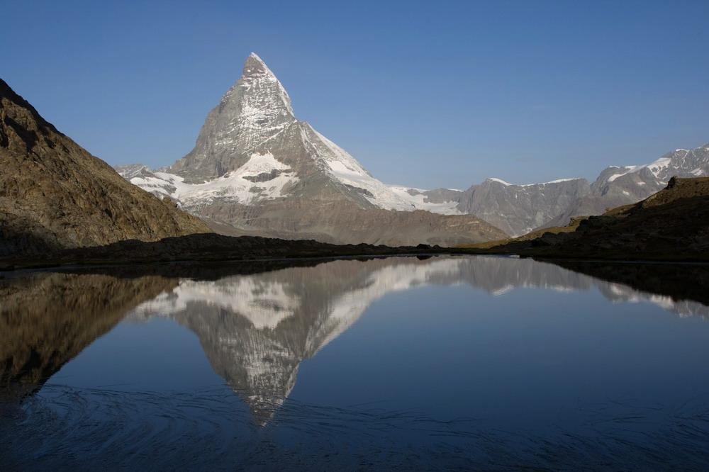 Matterhorn im Riffelsee