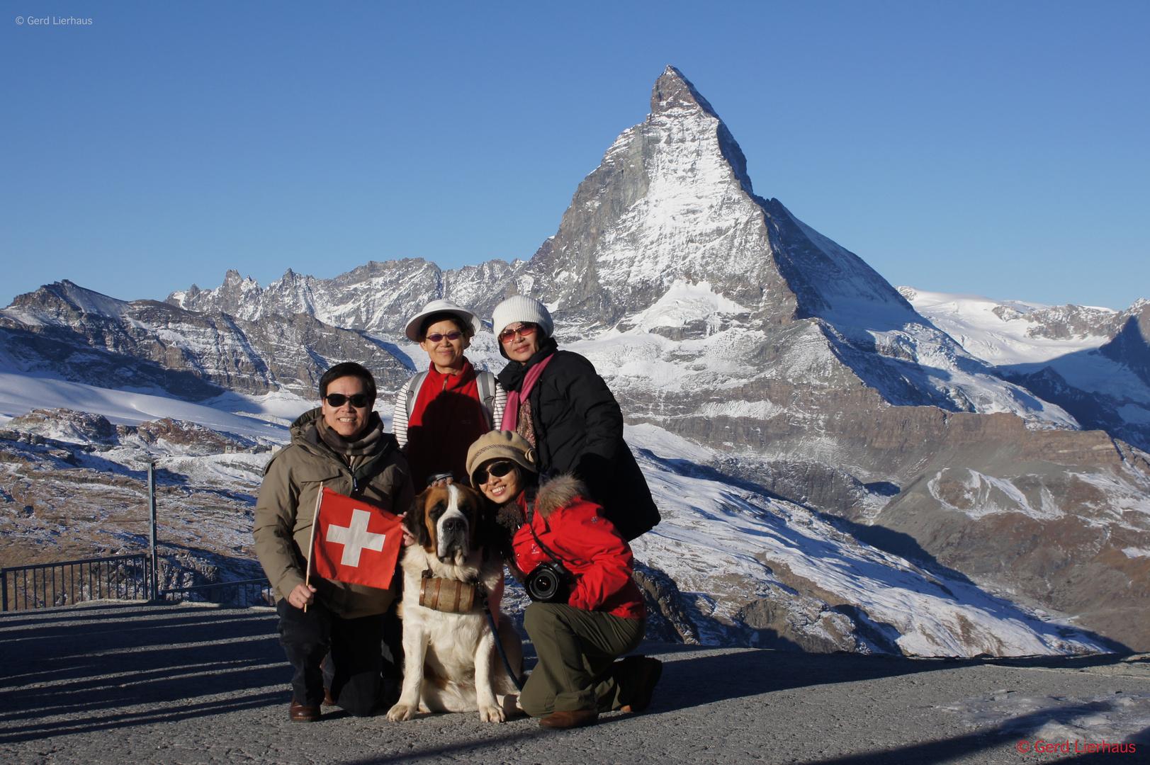 Matterhorn mit Touris