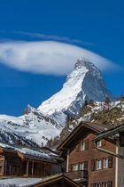 Matterhorn mit Wolkenkappe