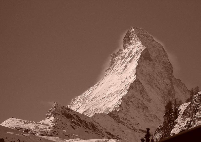 Matterhorn sepia - so ähnlich sah's wohl früher auch aus...
