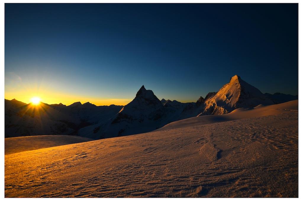 Matterhorn und Dent d'Herens