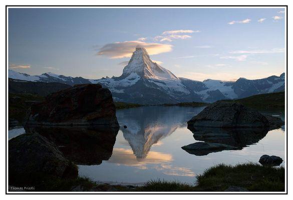 Matterhorn vom Grünsee aus