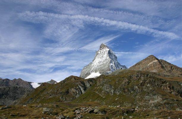 Matterhorn vom Schwarzsee aus gesehen