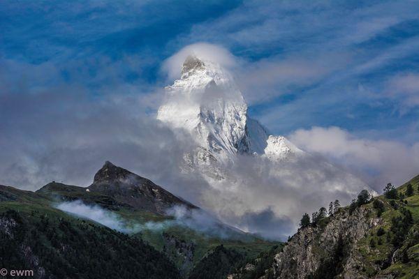 Matterhorn wolkenverhangen